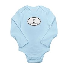 """Cahoon Beach """"Oval"""" Design. Long Sleeve Infant Bod"""