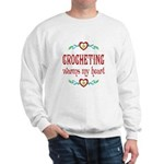 Crocheting Warms Hearts Sweatshirt