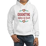 Crocheting Warms Hearts Hooded Sweatshirt