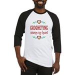 Crocheting Warms Hearts Baseball Jersey