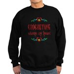 Crocheting Warms Hearts Sweatshirt (dark)