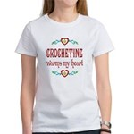 Crocheting Warms Hearts Women's T-Shirt