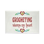 Crocheting Warms Hearts Rectangle Magnet (100 pack