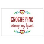 Crocheting Warms Hearts Large Poster