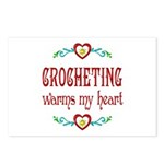 Crocheting Warms Hearts Postcards (Package of 8)