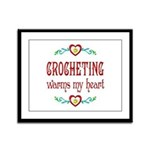 Crocheting Warms Hearts Framed Panel Print