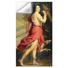 Madame de Montespan as Diana the Huntress (oil on Wall Decal