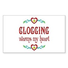 Clogging Warms My Heart Decal