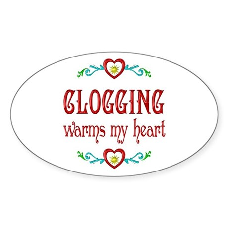 Clogging Warms My Heart Sticker (Oval 10 pk)