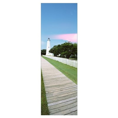 Ocracoke Lighthouse Outer Banks NC Poster
