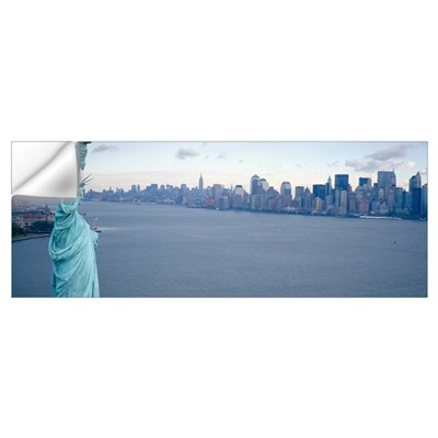 New York City with Statue of Liberty NY Wall Decal
