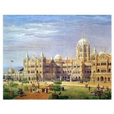 The British Raj Great Indian Peninsular Terminus ( Poster