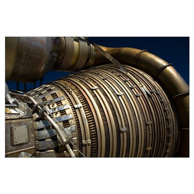 Closeup view of a rocket engine Poster