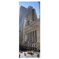 Low angle view of a stock exchange building, New Y Framed Print