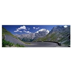 Winding Mountain Road Stelvio Italy Poster