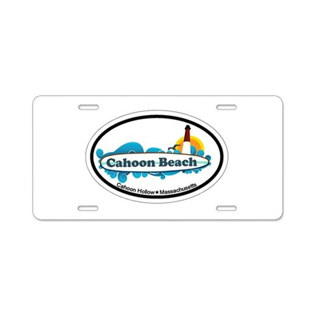 "Cahoon Beach ""Oval"" Design. Aluminum License Plate"