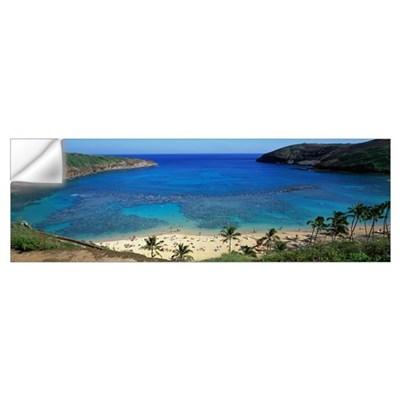 Beach at Hanauma Bay Oahu Hawaii Wall Decal