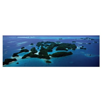 Aerial View of Rock Islands Palau Poster