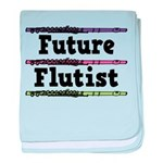 Future Flutist Music baby blanket