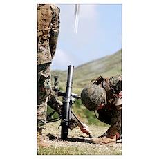 The directlay method of firing mortars Poster
