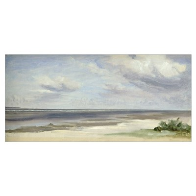 A Beach on the Baltic Sea at Laboe, 1842 (w/c on p Poster