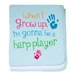Kids Future Harp Player baby blanket