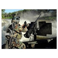 A Special Warfare Combatantcraft Crewman reloading Poster