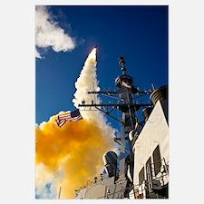 The Aegisclass destroyer USS Hopper launching a st