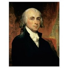 James Madison (oil on canvas) Poster