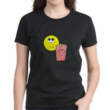 Smilie Face Popcorn Tee