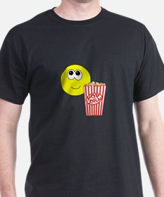 Smilie Face Popcorn T-Shirt