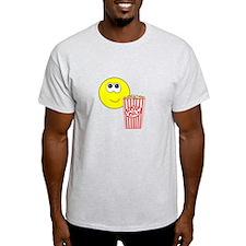 Smilie Face Popcorn T-Shirt