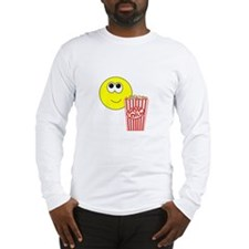 Smilie Face Popcorn Long Sleeve T-Shirt