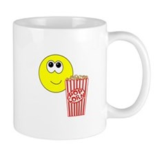 Smilie Face Popcorn Small Mug