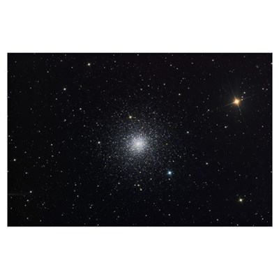 Messier 3 a globular cluster in the constellation Poster
