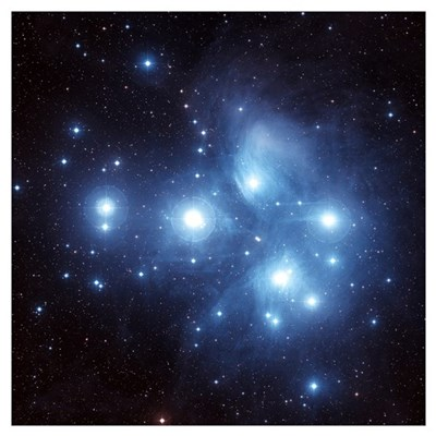 The Pleiades Star Cluster Poster