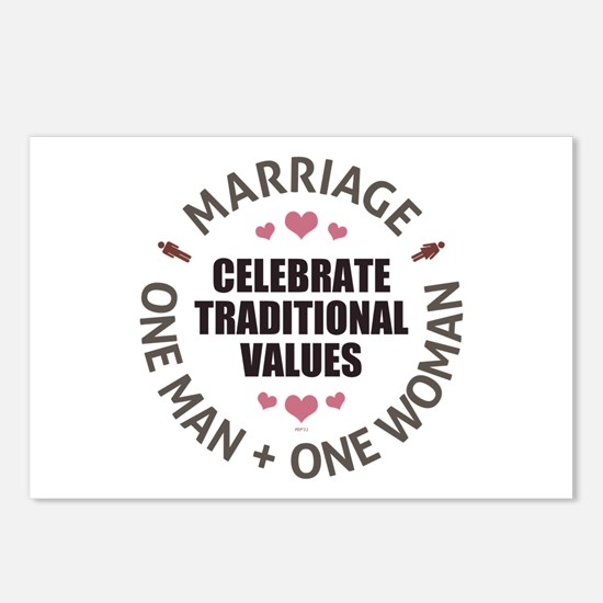 Celebrate Traditional Values Postcards (Package of