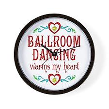 Ballroom Warms My Heart Wall Clock