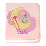 Trombone Music Cute Sleeping Baby Blanket