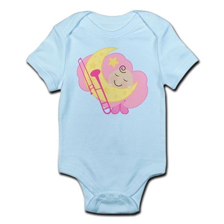Trombone Sleeping Baby Music Infant Bodysuit