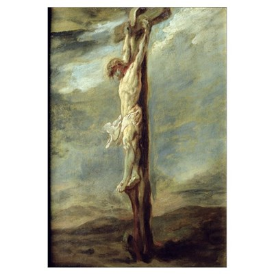 Christ on the Cross (oil on canvas) Poster