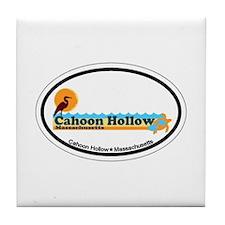 "Cahoon Beach ""Oval"" Design. Tile Coaster"