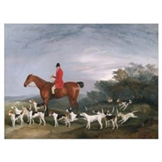 Out Hunting, 1841 (oil on canvas) Poster