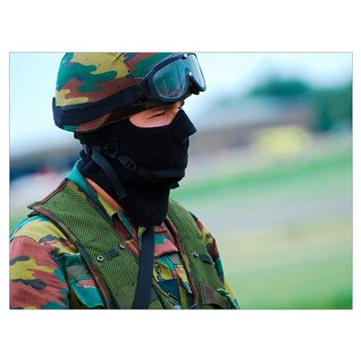 A soldier of the Special Forces Group of the Belgi Poster