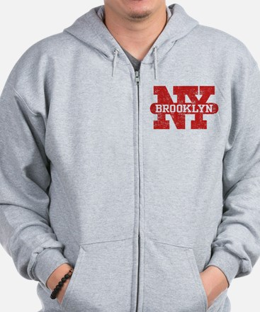 Brooklyn New York Zip Hoodie