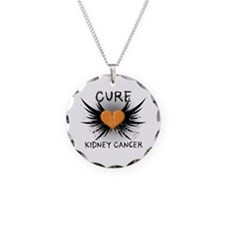 Cure Kidney Cancer Necklace Circle Charm