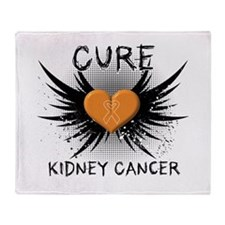 Cure Kidney Cancer Throw Blanket