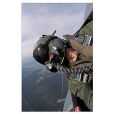 Cockpit view of a pilot flying an F15 Eagle Poster