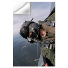 Cockpit view of a pilot flying an F15 Eagle Wall Decal