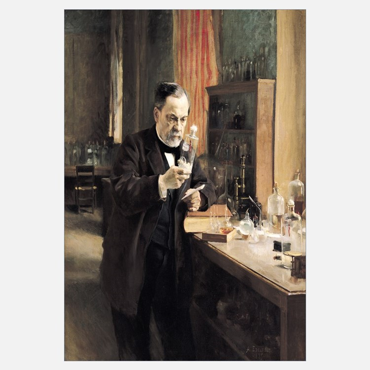Louis Pasteur (1822 95) in his Laboratory, 1885 (o
